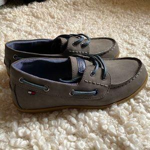 Boys Tommy Hilfiger boat shoes.